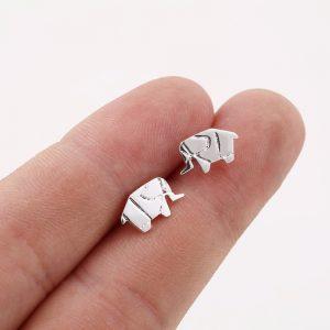 sidabruoti auskarai drambliukai1