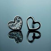 sidabriniai auskarai sirdeles