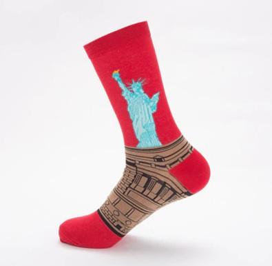 """Spalvotos kojinės """"Laisvės statula"""""""