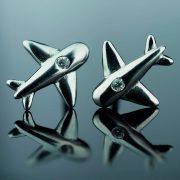 sidabriniai auskarai lektuvai