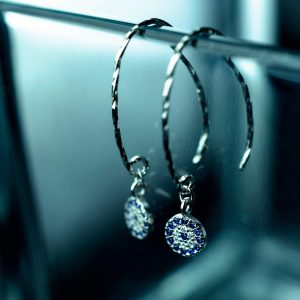 sidabriniai auskarai turkiska akis