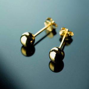 sidabriniai auskarai burbulai